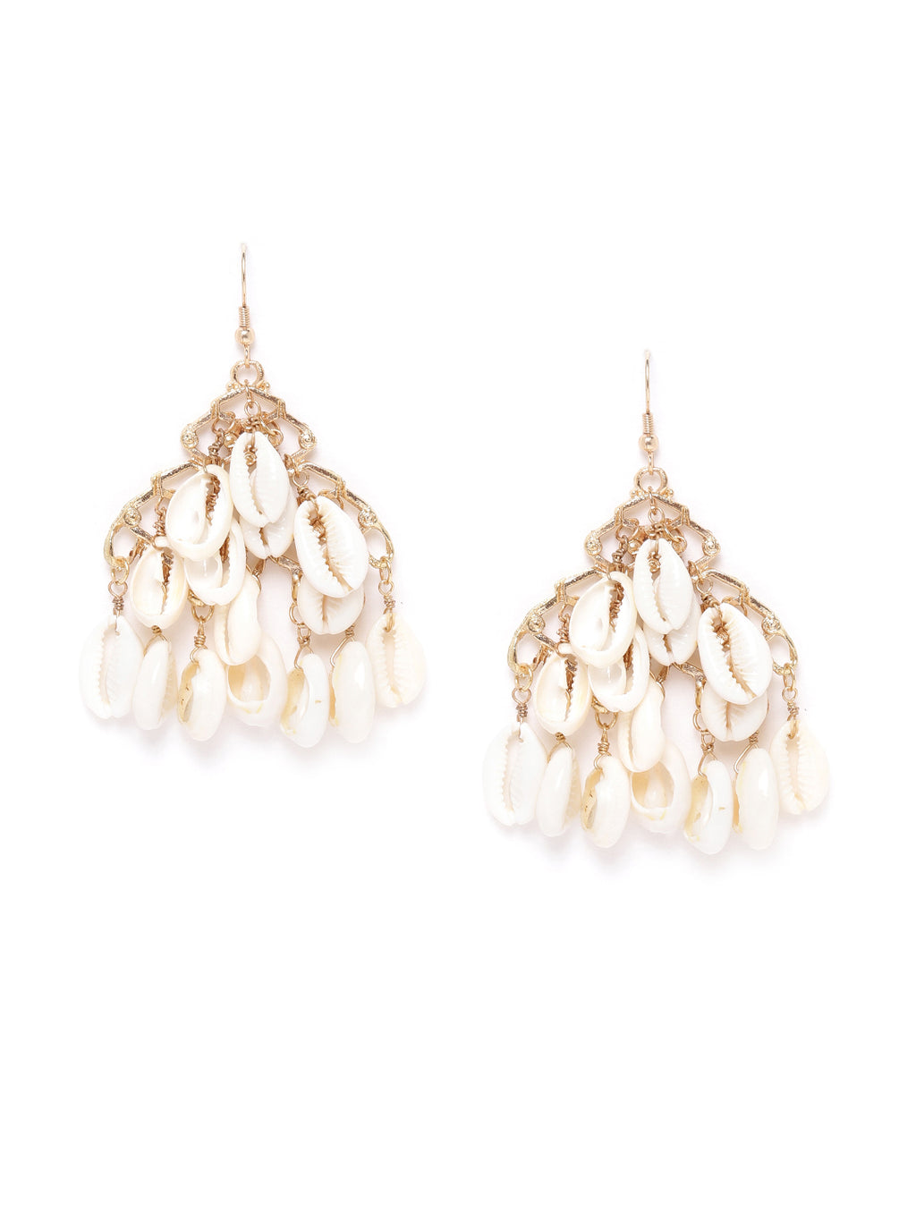 Blueberry white shell detailing drop earring