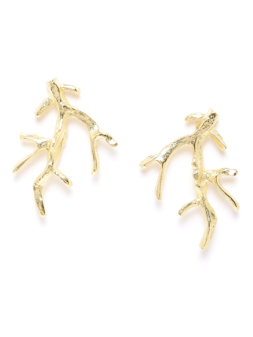 Blueberry gold plated Deer Horn shape drop earring