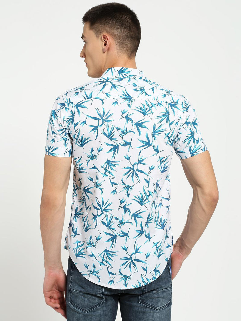 Lazy panda  tropical leaf print shirt