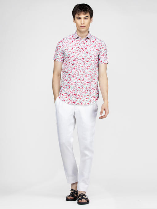 Flamingo bird printed multi color shirt