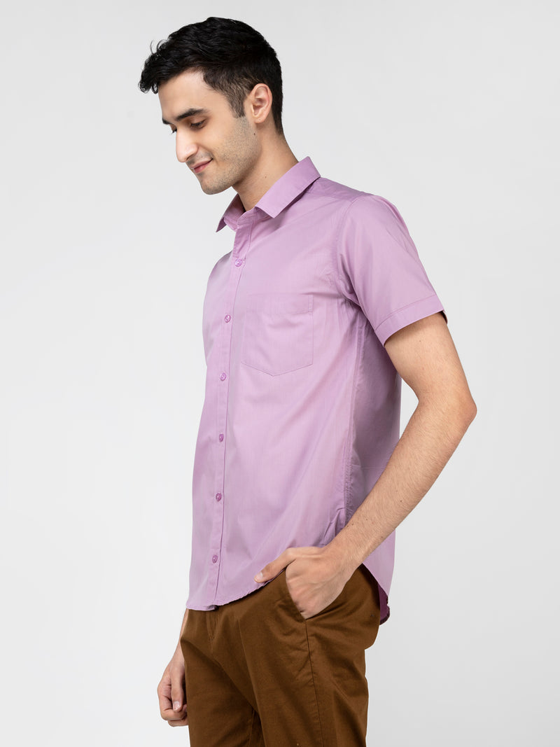 Lazy panda lilac solid shirt