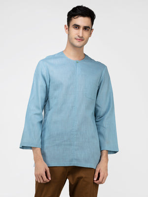 Lazy panda light blue cotton kurta