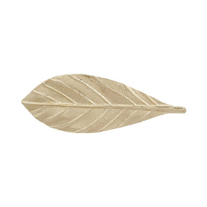 Blueberry leaf motif gold hair clip