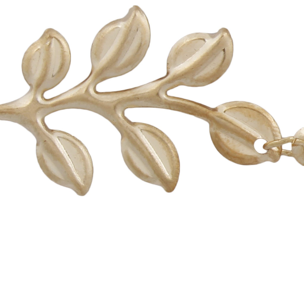 Blueberry leaf shaped gold hairpin