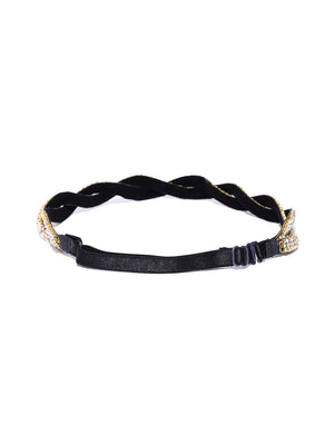 Blueberry multi color stone detailing hair band