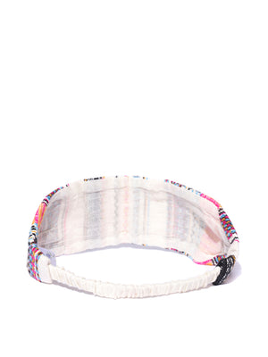 Blueberry multi color fabric hair band
