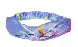 Blueberry multi color printed hair band