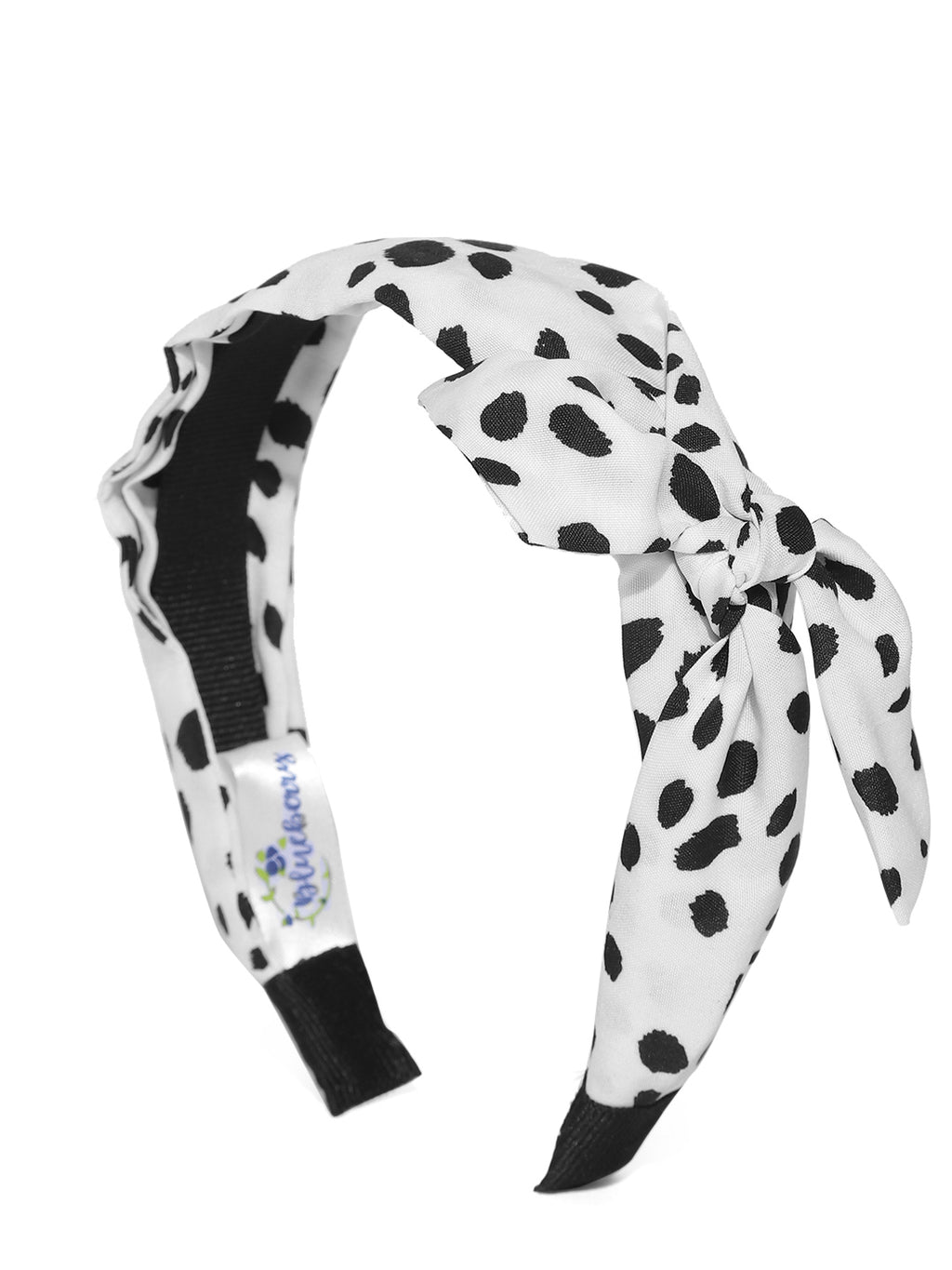 Blueberry black dotted printed hair band