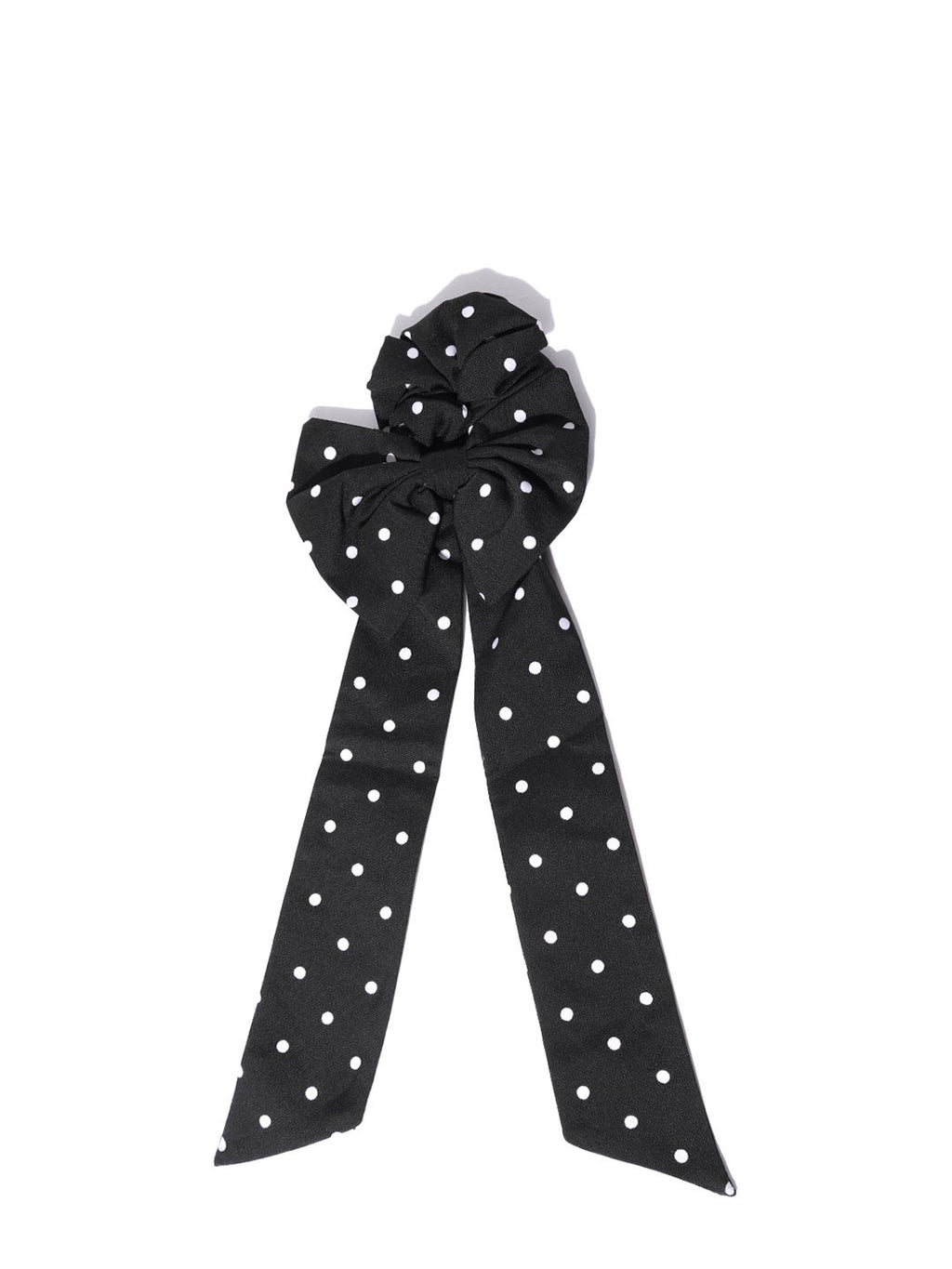 Blueberry white printed dotted ponytail holder