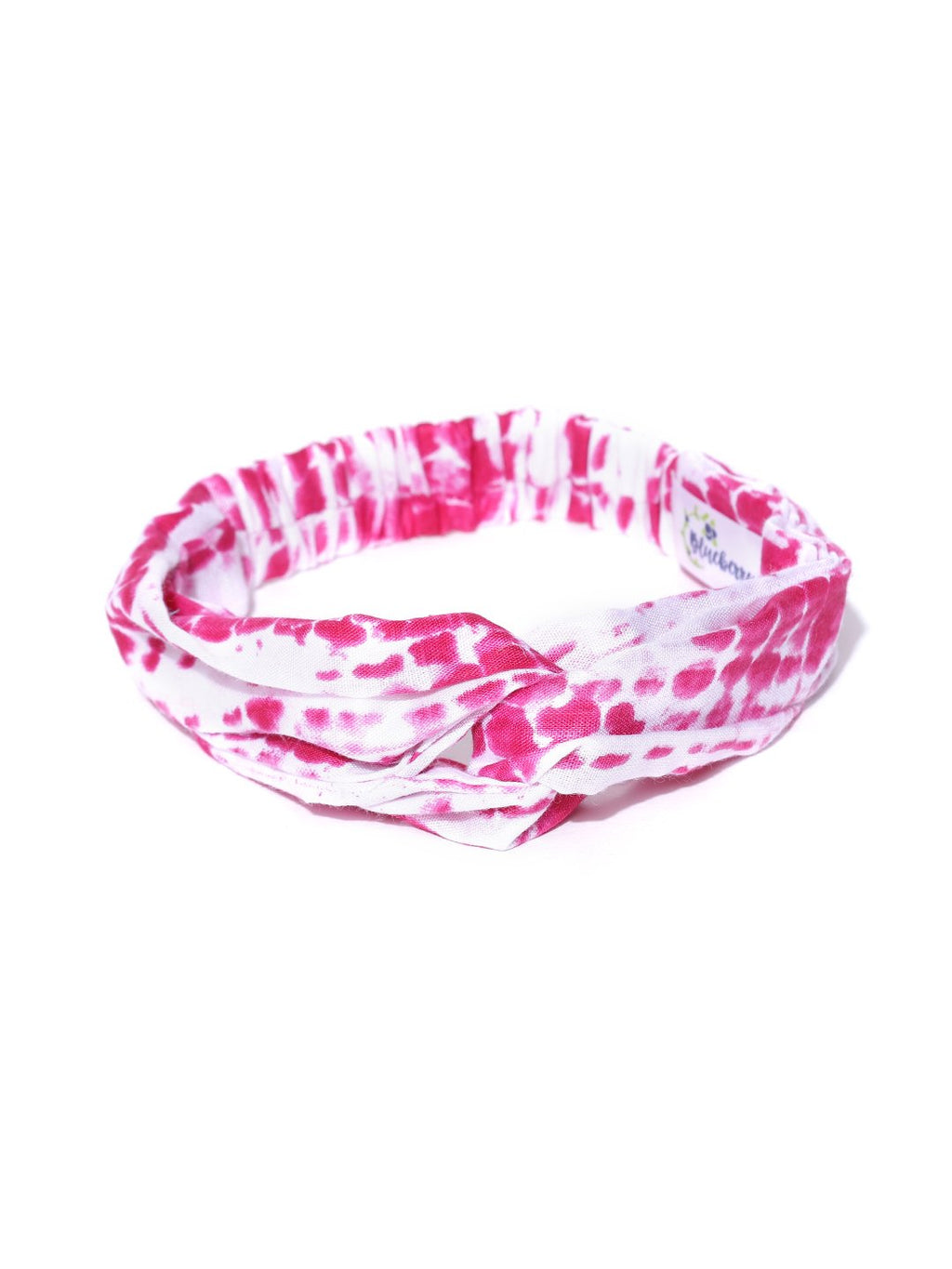 Blueberry pink colour printed hair band
