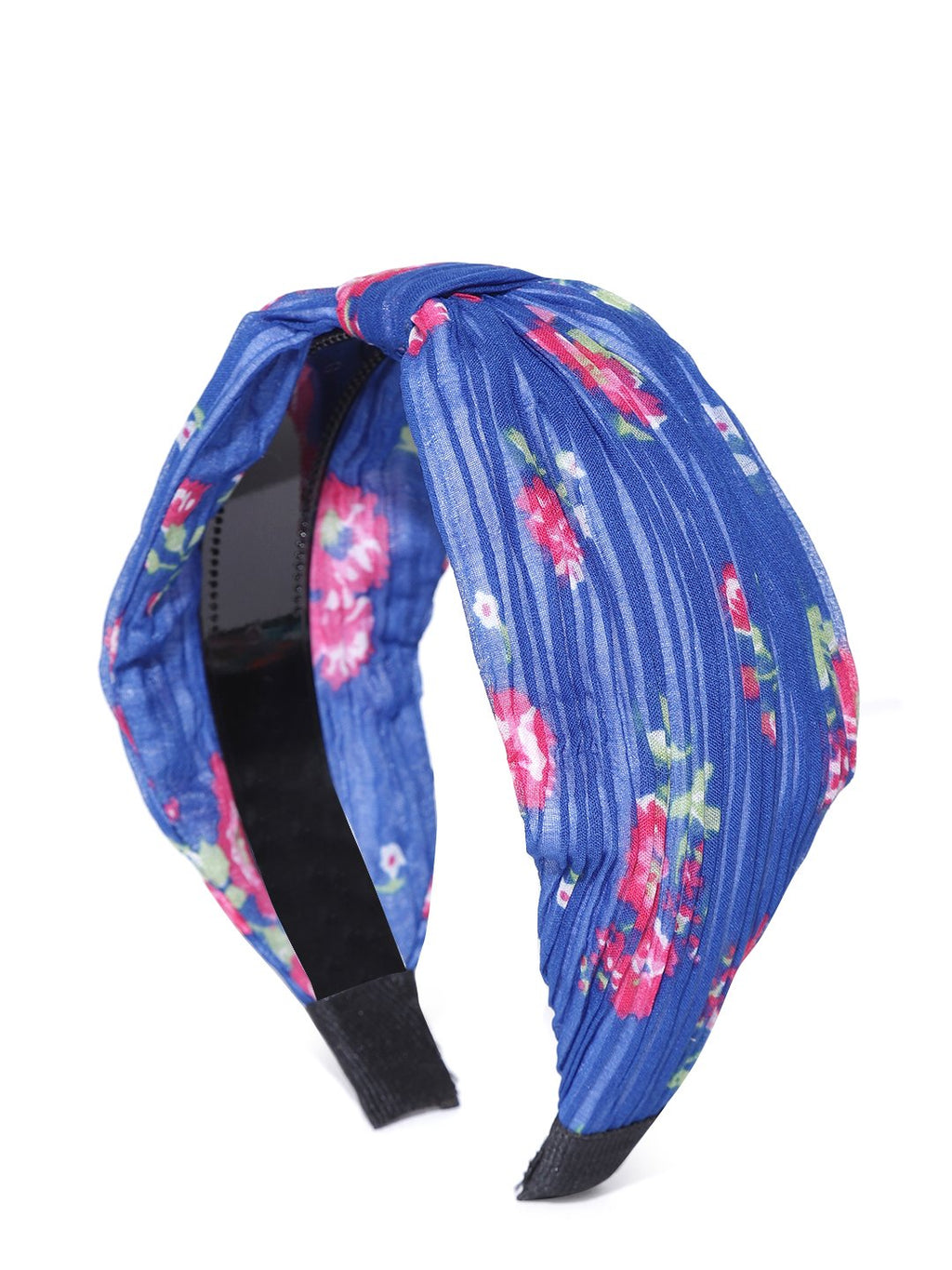 Blueberry floral printed blue color hair band