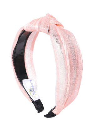 Blueberry peach color knot detailing hair band