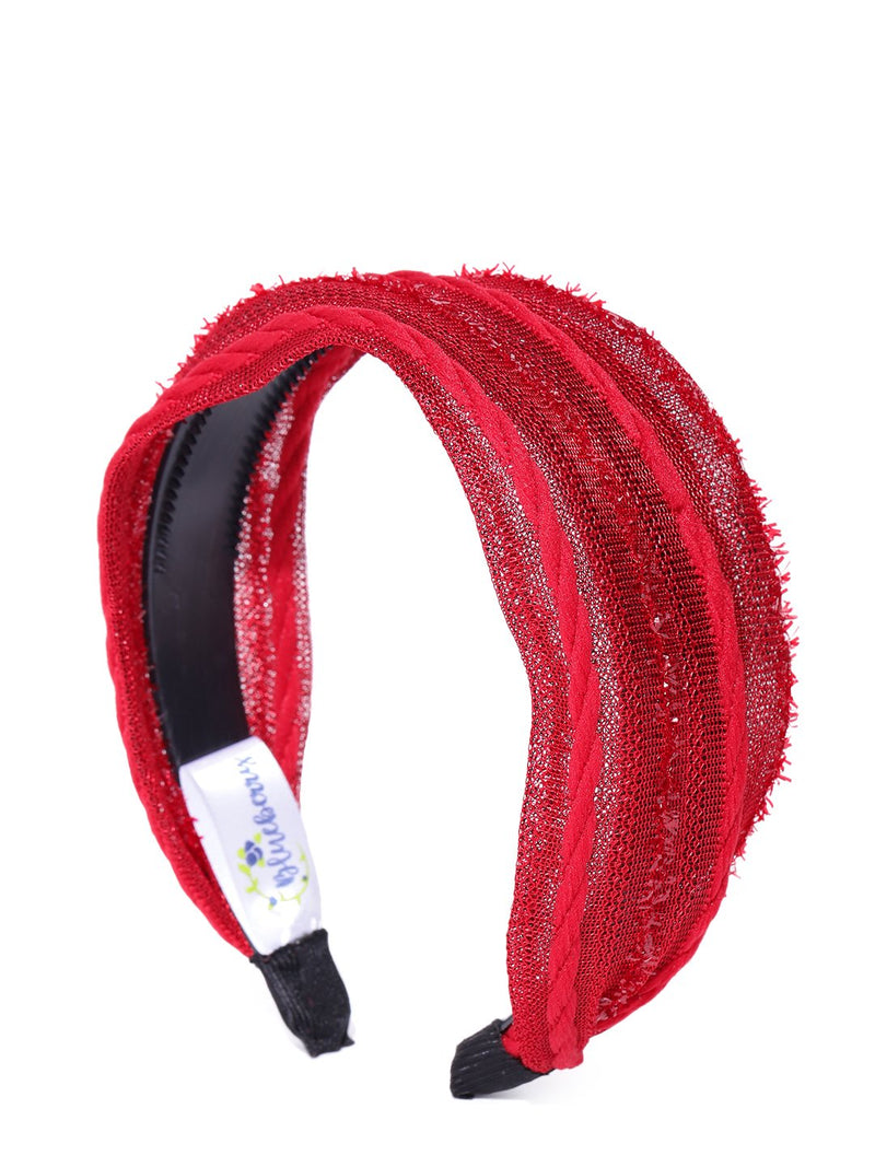 Blueberry red color knot detailing hair band