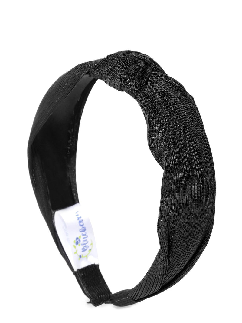 Blueberry metallic black color knot detailing hair band