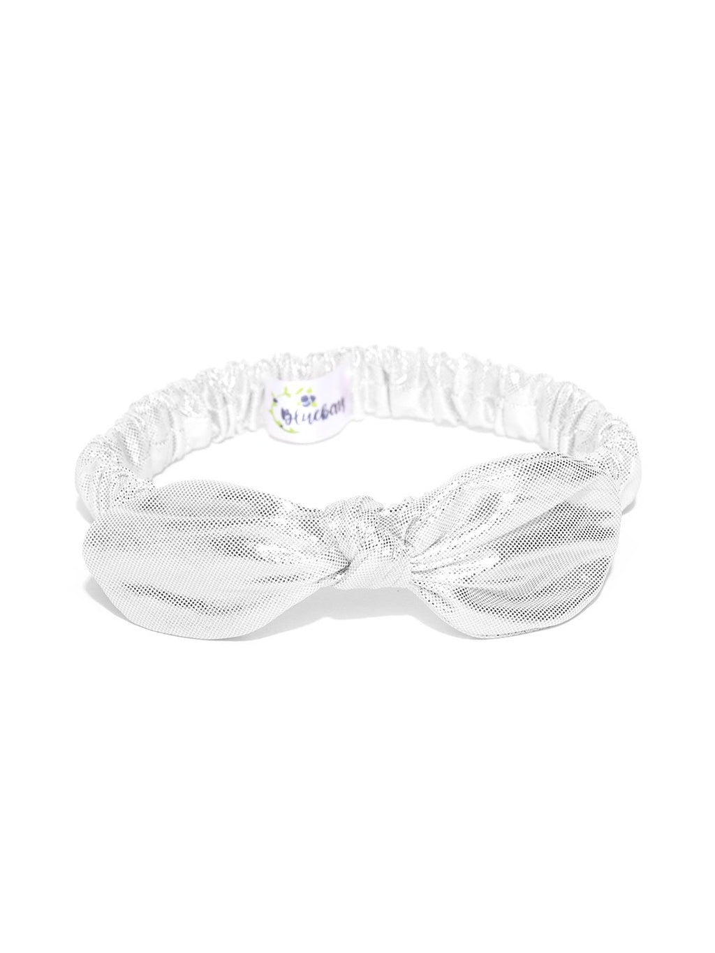 Blueberry silver colour bunny ear knot shape detailing hairband