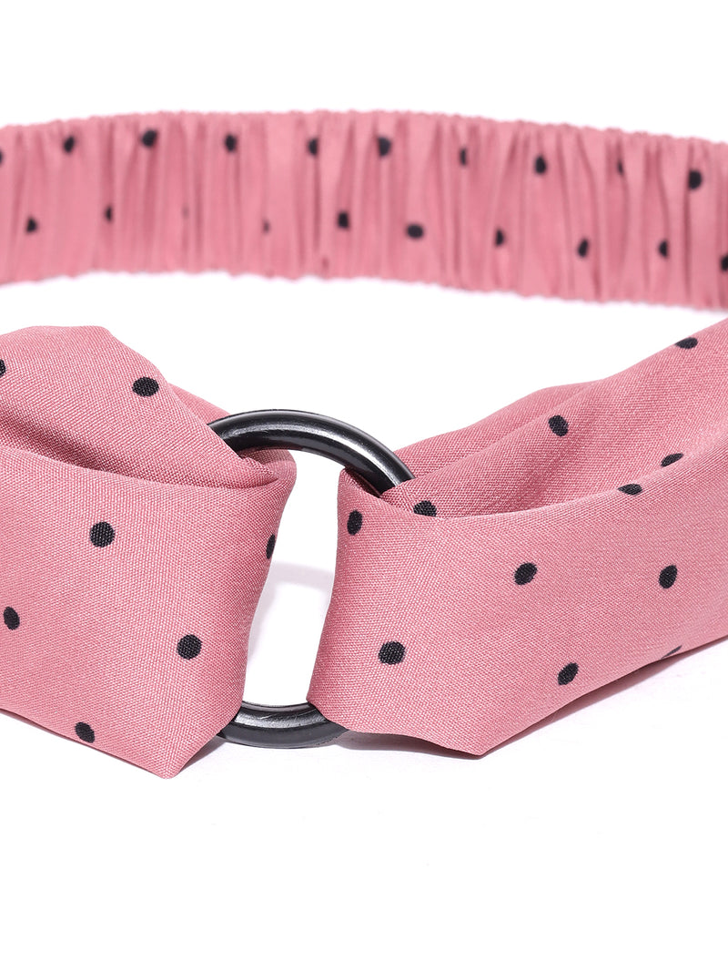 Blueberry black dotted detailing peach colour hair band