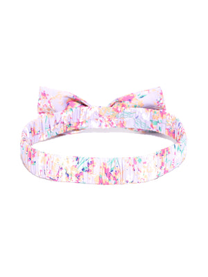 Blueberry multi colour floral print hair band