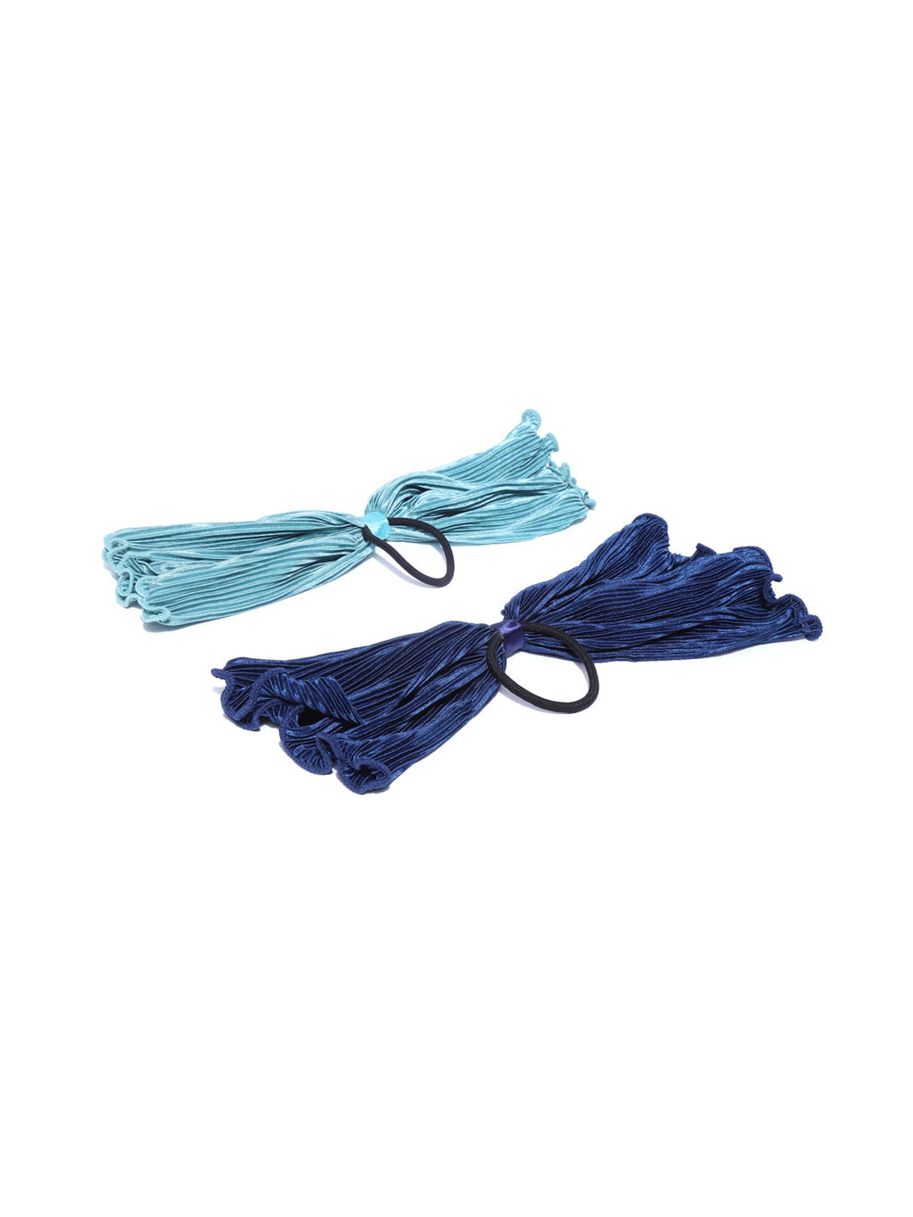 Blueberry set of 2 navy blue and sky blue colour ponytail holder