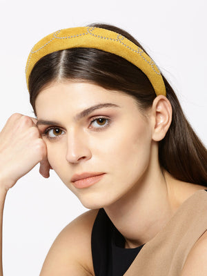 Blueberry yellow colour beaded detailing hairband