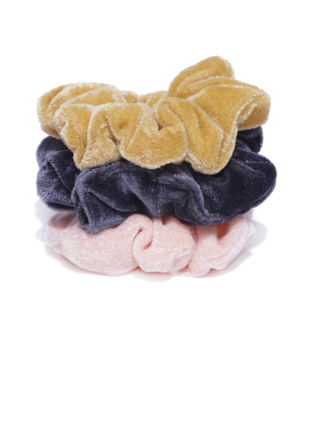 Blueberry set of 3 velvet scrunchies