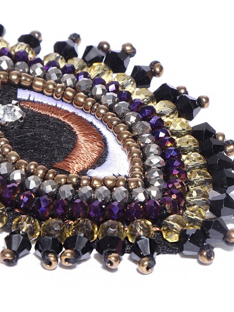 Blueberry embellished Eye hair clip