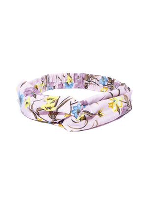 Blueberry multi floral printed knot hairband
