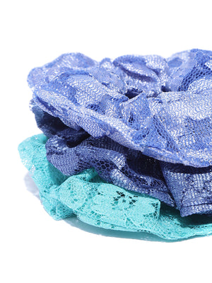 Blueberry set of 3 multi scrunchie