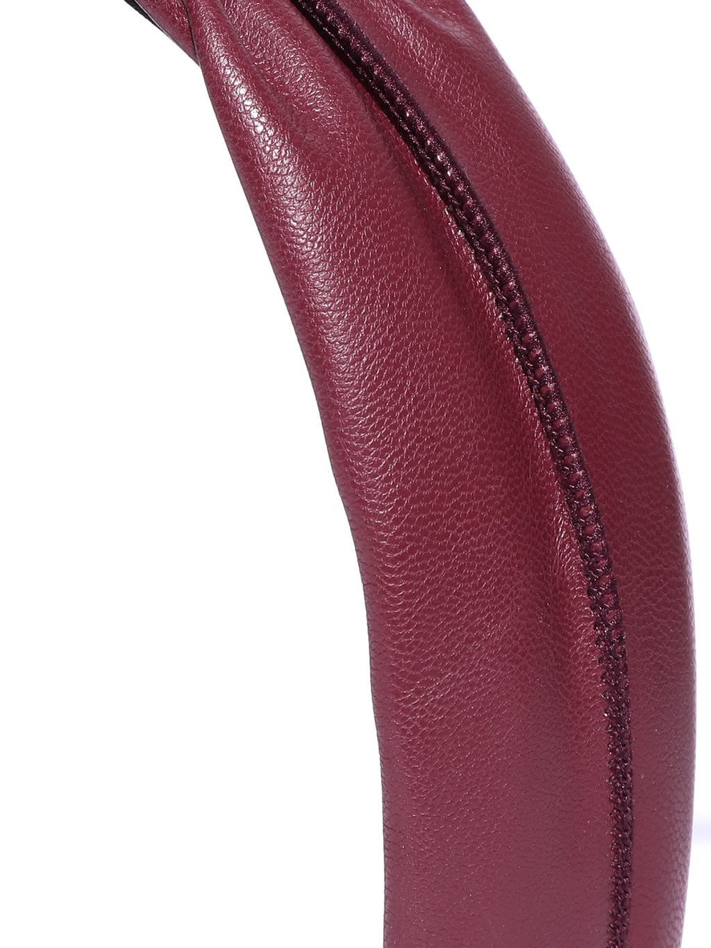 Blueberry red synthetic leather knot hairband