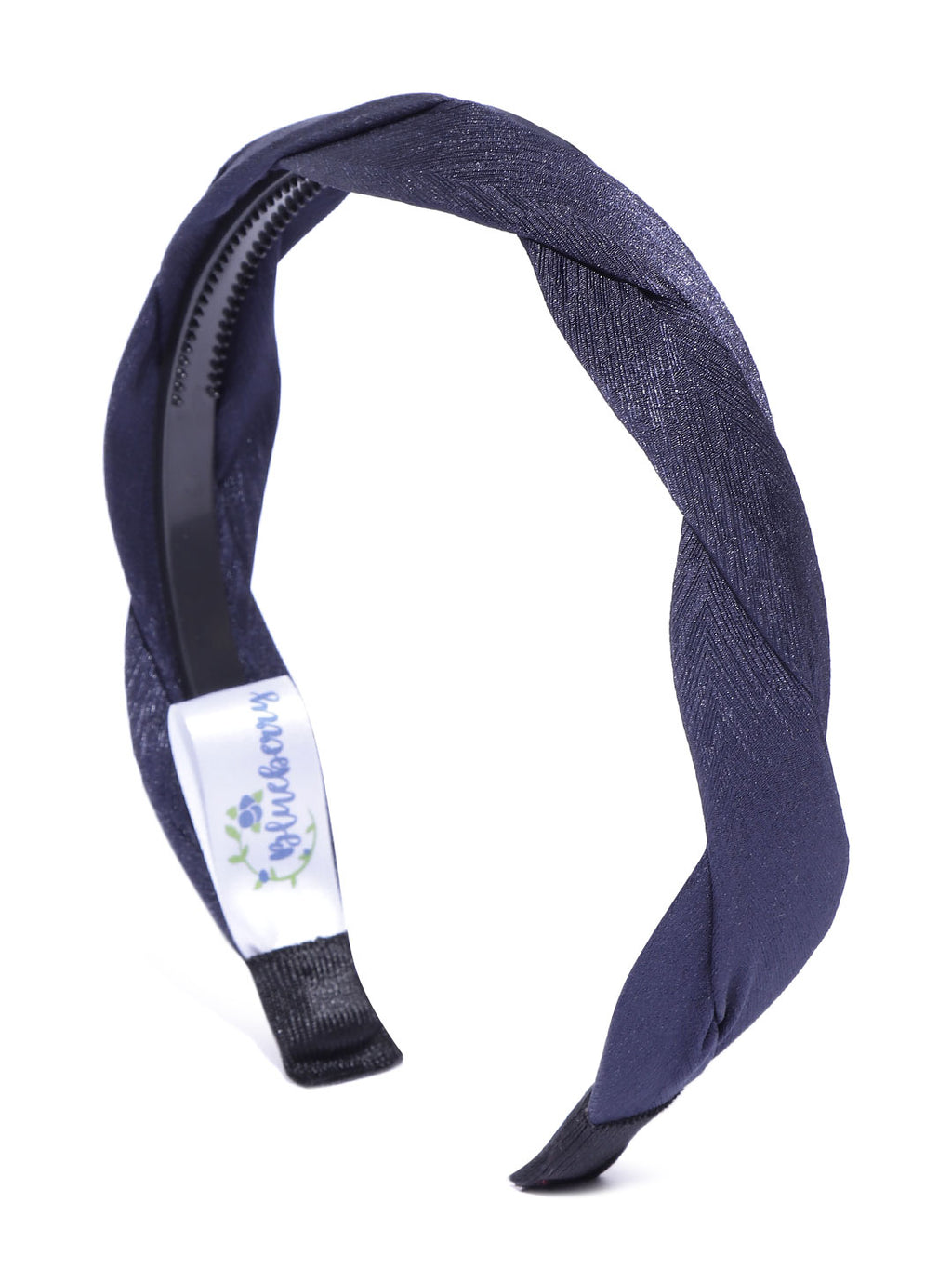 Blueberry navy blue pleated hairband