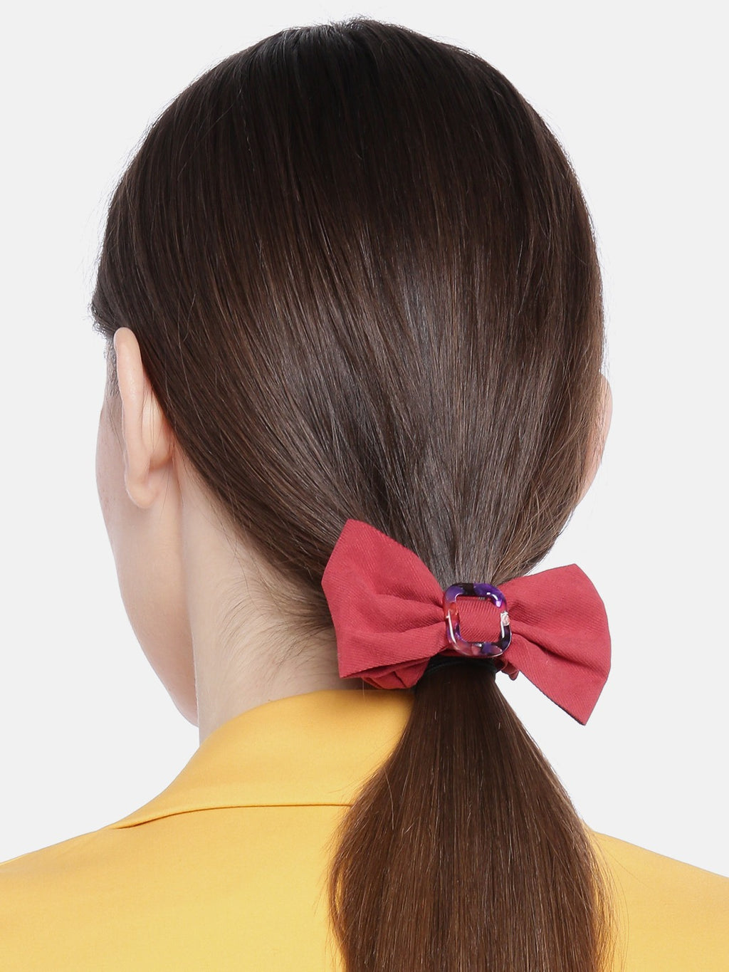 Blueberry Red bow scrunchies