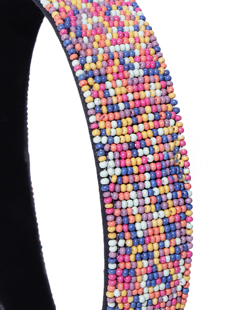 Blueberry multi beads embellished hairband