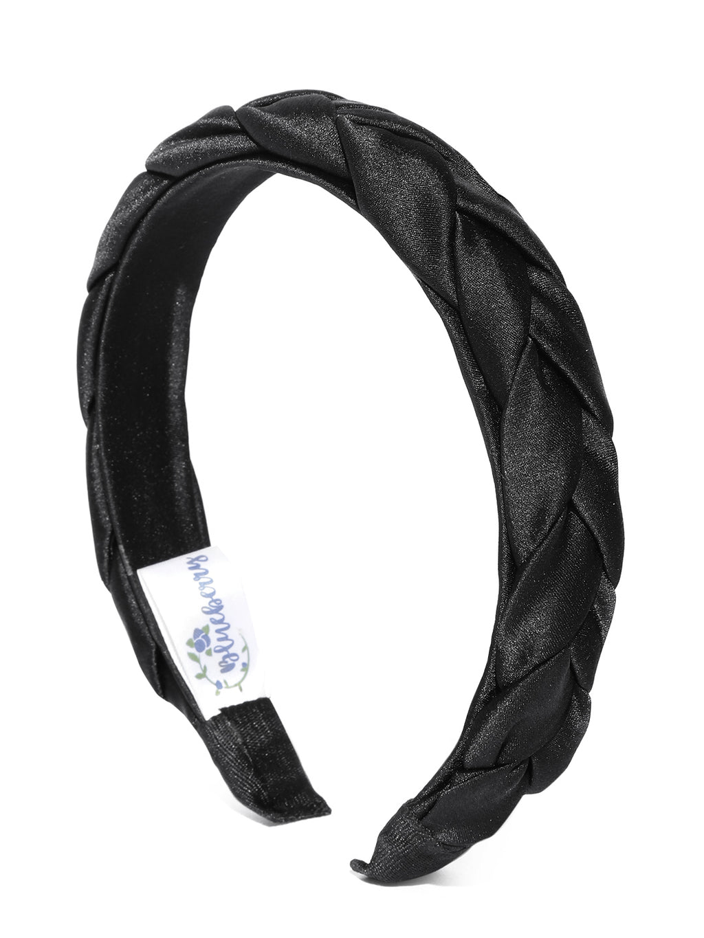 Blueberry balck cross knot detailings satin hairband