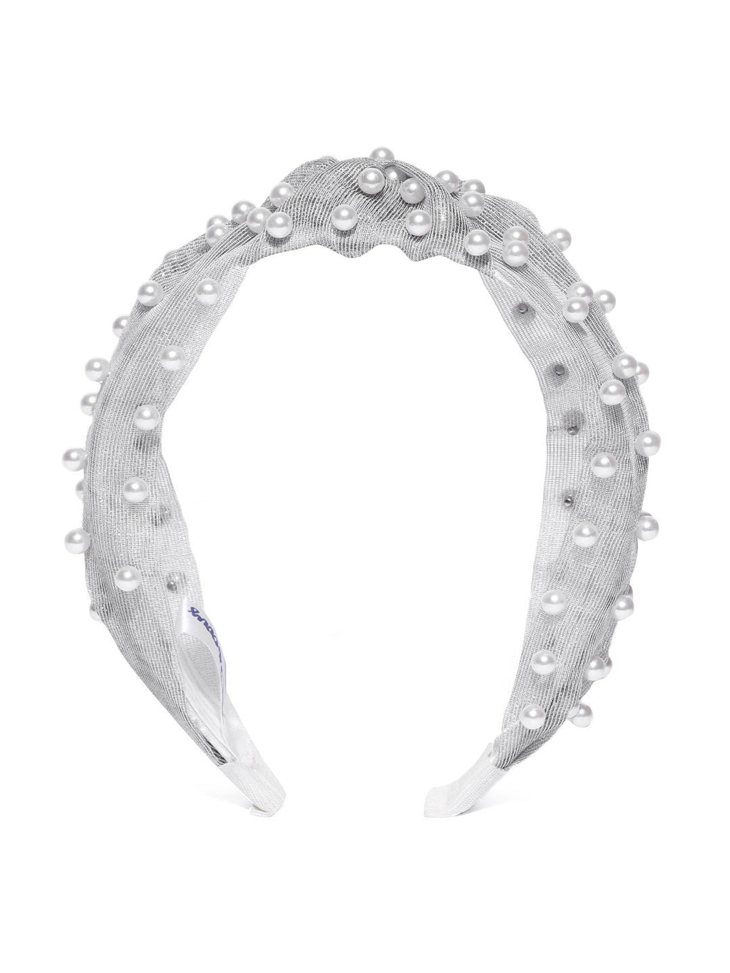 Blueberry princess pearl embellished grey knot hair band
