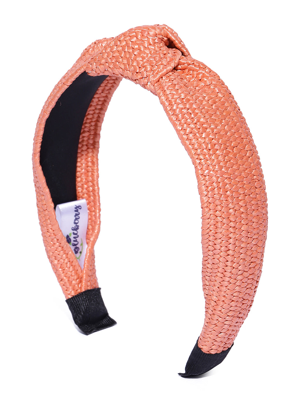 Blueberry Coral jute knot hair band