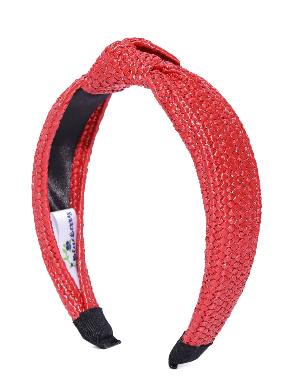 Blueberry red jute knot hair band