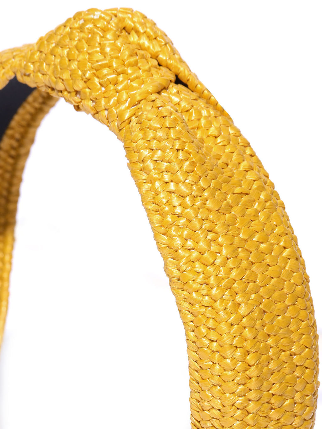 Blueberry yellow jute knot hairband