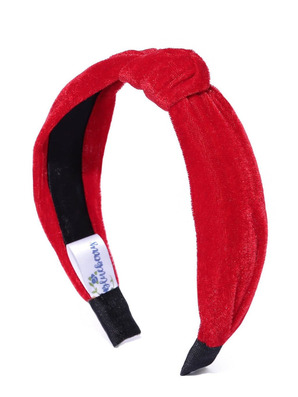 Blueberry red velevt knot hair band