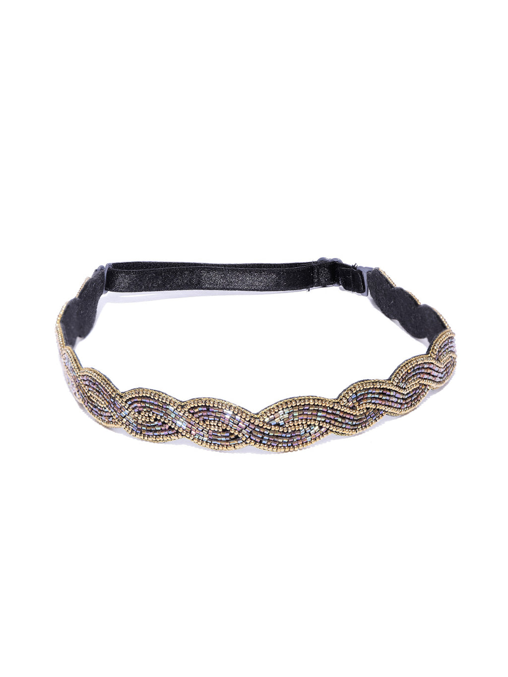 Blueberry multi glass bead embellished hair band