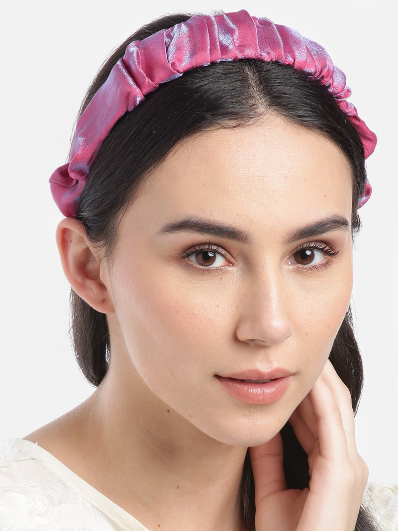 Blueberry Multi pleated hair band