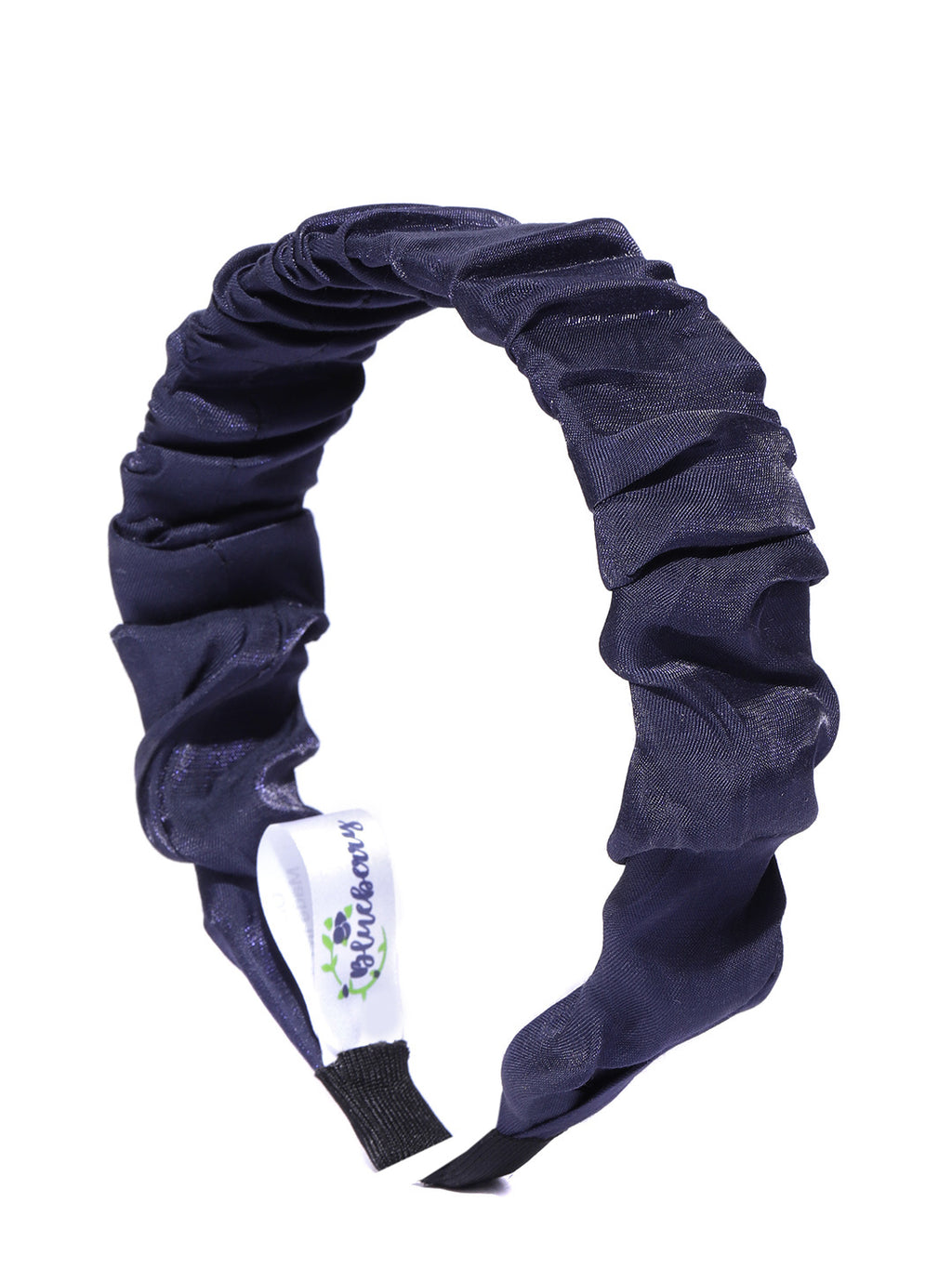 Blueberry navy blue pleated hair band