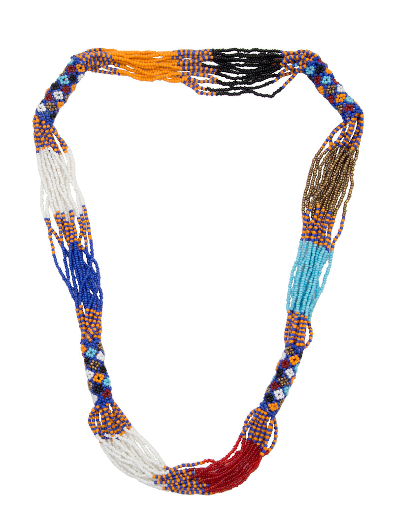 Blueberry multi colour beads detailing necklace