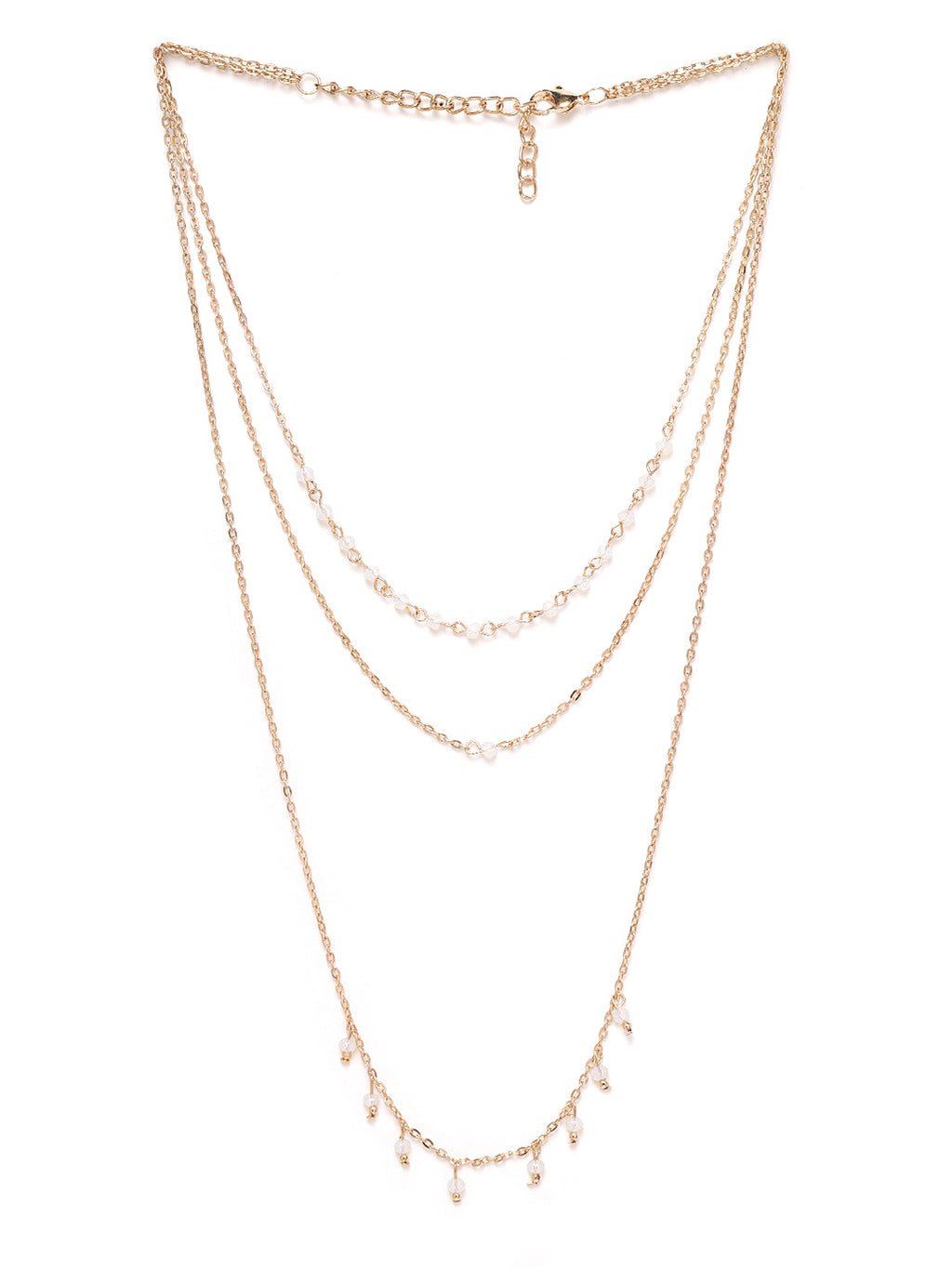 Blueberry gold plated chain layered necklace