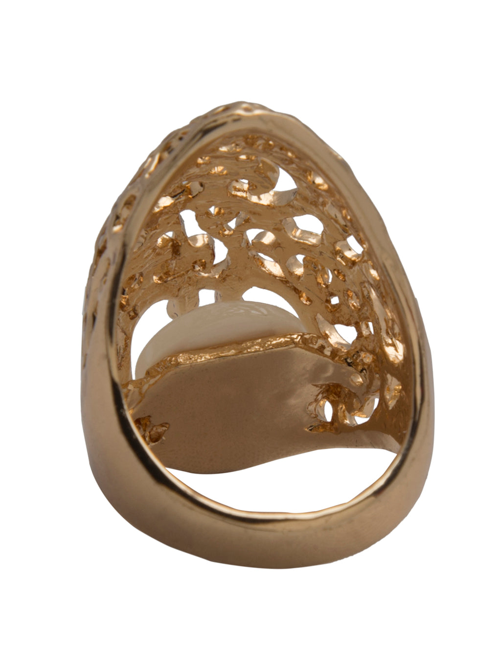 Gold toned cut out ring