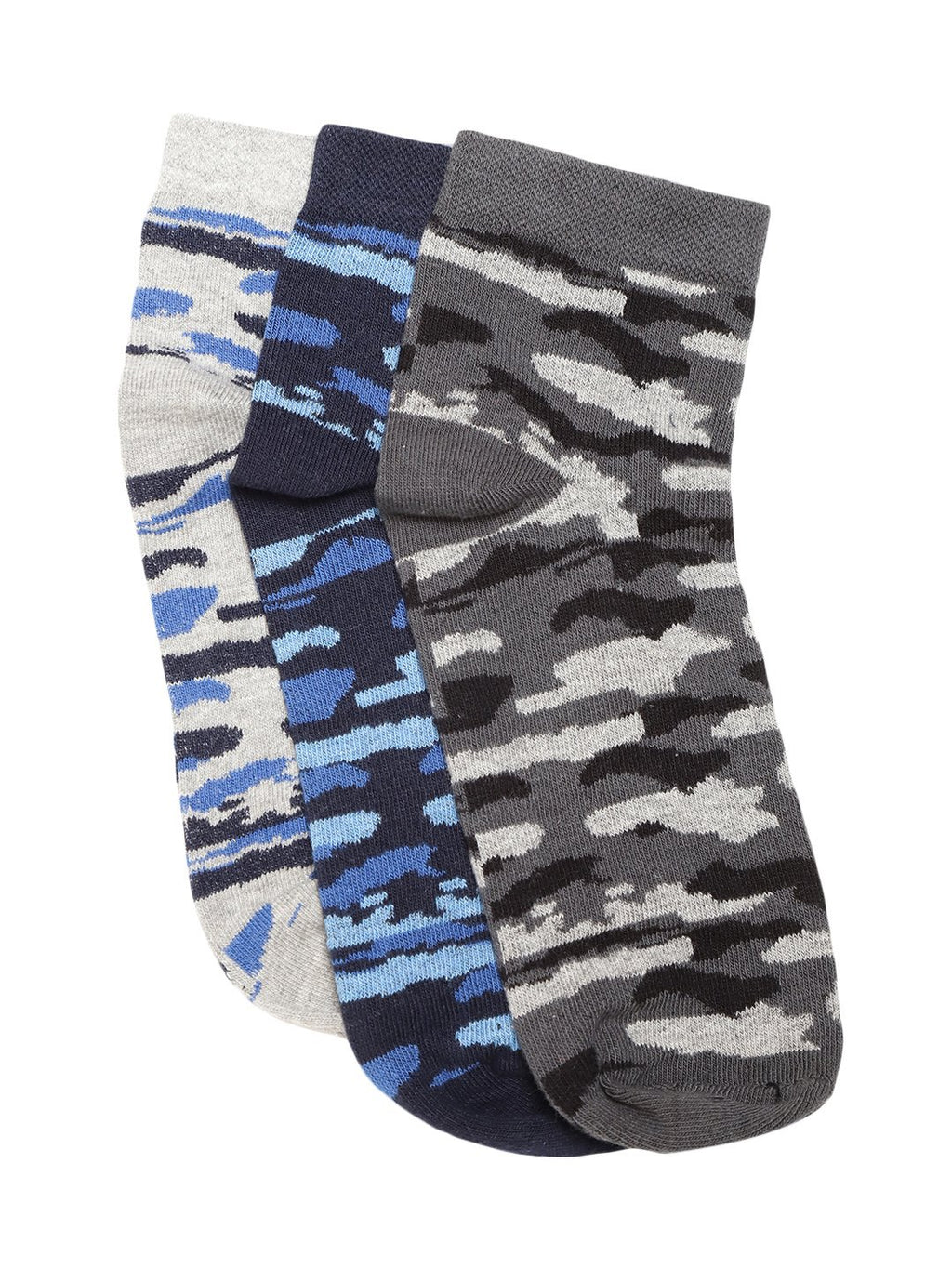 Blueberry set of 3 multi colour ankle length socks