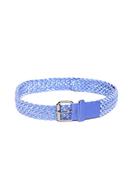 Lazy panda blue braided belt