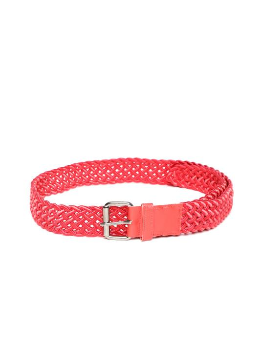 Lazy panda red braided belt