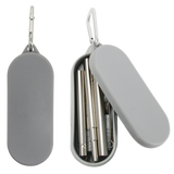 Grey fold away stainless steel utensils