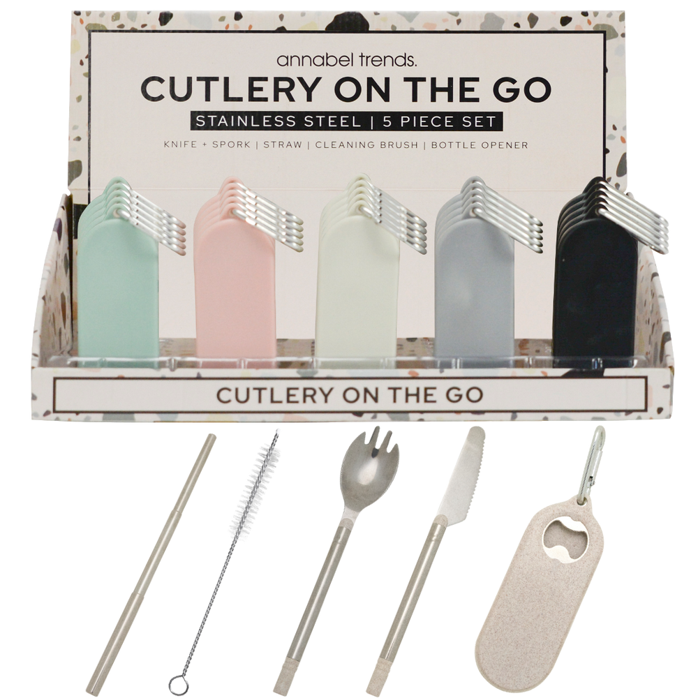Cutlery On The Go, fold away stainless steel utensils
