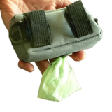 Waste bag carry pouch