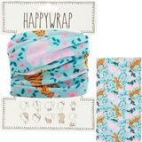 Hair, neck, wrist or head to a face mask wrap tigers and flowers